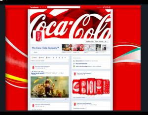 Coca Cola Facebook timeline voorbeeld van Mashable