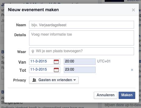 Evenement aanmaken facebook meerdere dagen 3