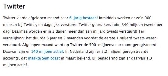 Twitter statistiek maart 2012 @marketingfacts