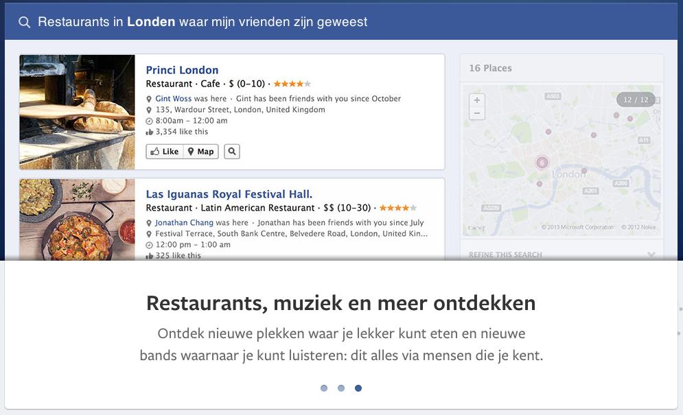 het nieuwe zoeken van facebook sociogram