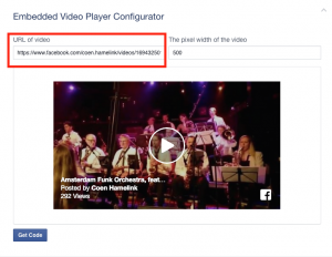 facebook video url hier plaatsen